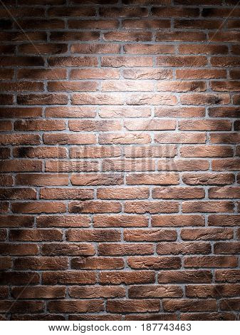 Dark brown brick wall. Close-up picture of bricks.