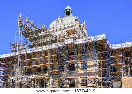 Lexington, KY, USA - 09/14/2016: Under restoration the Lexington History Museum on West Main Street KY