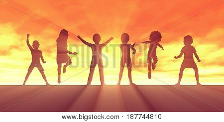 Child Development and Building Confidence in Children 3D Illustration Render
