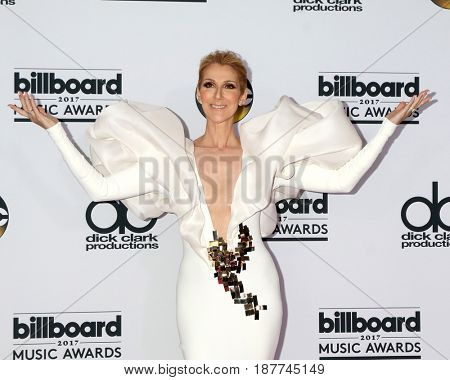 LAS VEGAS - MAY 21:  Celine Dion at the 2017 Billboard Awards Press Room at the T-Mobile Arena on May 21, 2017 in Las Vegas, NV