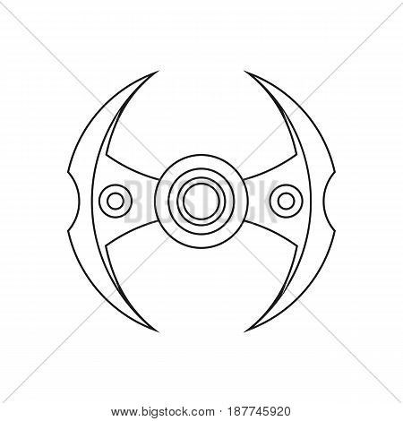 Hand spinner, stress relief ridget toy icon, EDC toy sample use in website advertisement marketing promotion brochures banners. Vector illustration
