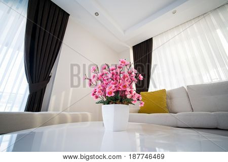 Beatiful vase in living room
