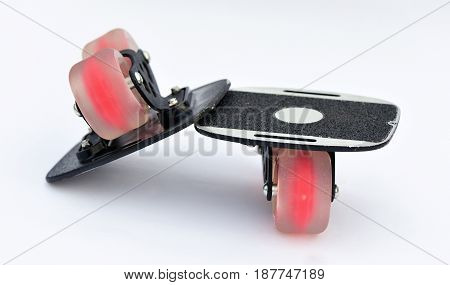 close up of two free line skateboard