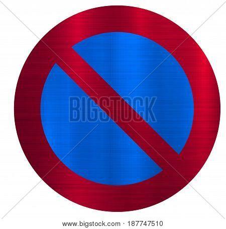 no parking forbidden circle  traffic road   illustration