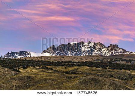 Snowy Andes Mountains, El Chalten Argentina
