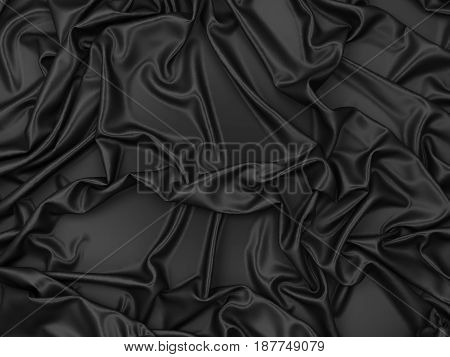 Smooth satin drapery. 3d background for design
