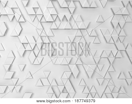 Abstract triangle pattern. 3d background for design