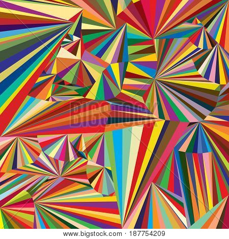 Beautiful colorful background with many colored triangles