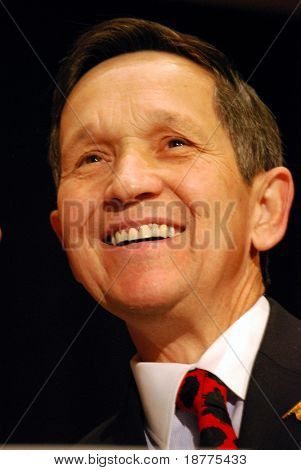 MCLEAN, VA - NOV 30, 2007: Representative Dennis Kucinich (D-Ohio) speaking at the Democratic National Committee (DNC) meeting on November 30, 2007, in McLean, Virginia.