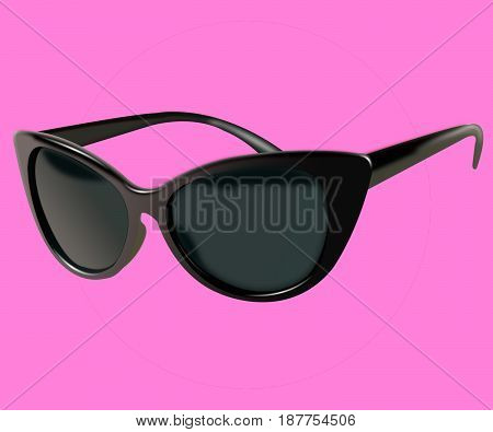 black glasses isolated on a background. the icon with black sun glasses