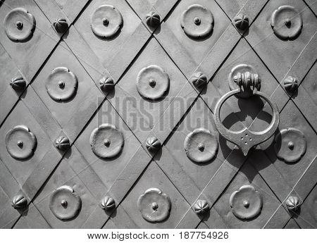 Fragment Of An Ancient Metal Door Texture