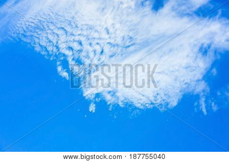 Blue Sky With Layer Of White Clouds