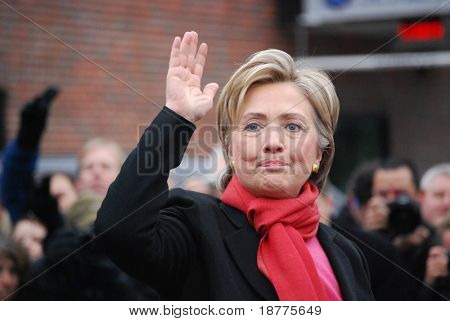 Hillary Rodham Clinton, New York Senator, wife of President Bill Clinton, Presidential Candidate, campaigning