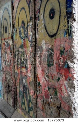A piece of Berlin Wall in Newseum, Washington DC, vertical