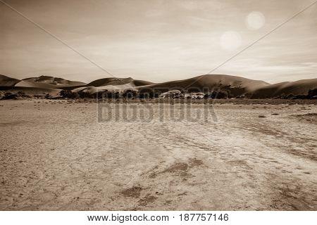 Sand Dunes In The Namib Desert.