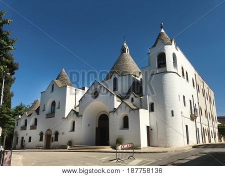 Alberobello town Italy Saint Antonio church landmark architecture