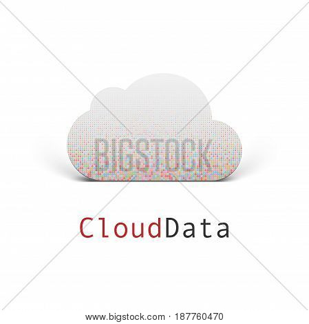 Cloud Data modern vector Label Design for Your Business