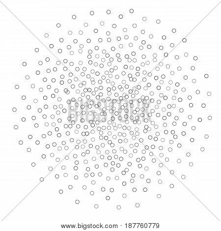 Abstract Pattern with vector Circle Particles Heap
