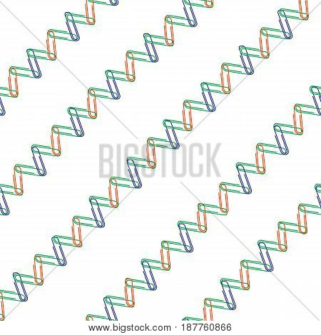 Colorful Picture: The Cute Pattern With Paper Clips
