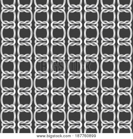 Seamless background from ropes and knotes. Vector illustration