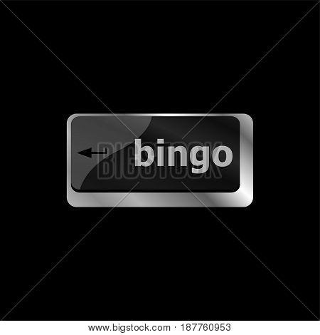 Bingo Enter Button On Computer Keyboard Keys