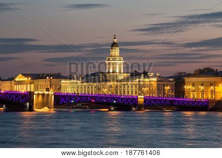 Kunstkamera And The Palace Bridge