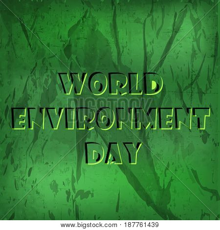 illustration of banner of world environment day text