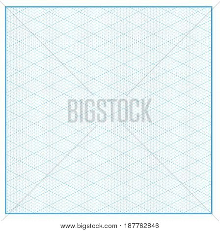 Isometric graph paper layout with 26.57 degree. Background Vector Illustration