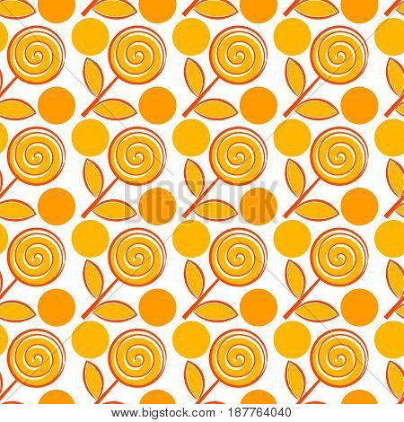 Seamless pattern with abstract flowers. Abstract bright background.