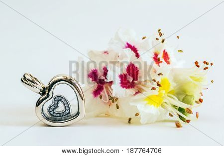 Jewelry for women symbol of the heart modern fashion amulets jewelry macro
