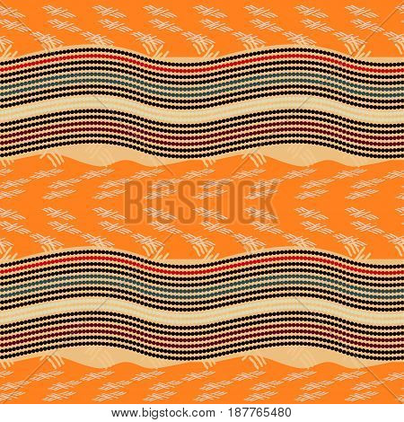 Seamless pattern with circles. Abstract geometric bright background.