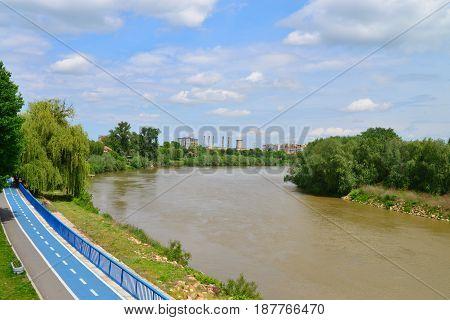 Arad city Romania Mures river nature landscape