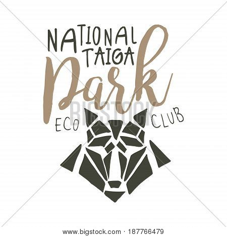 National park, eco club design template, hand drawn vector Illustration isolated on a white background