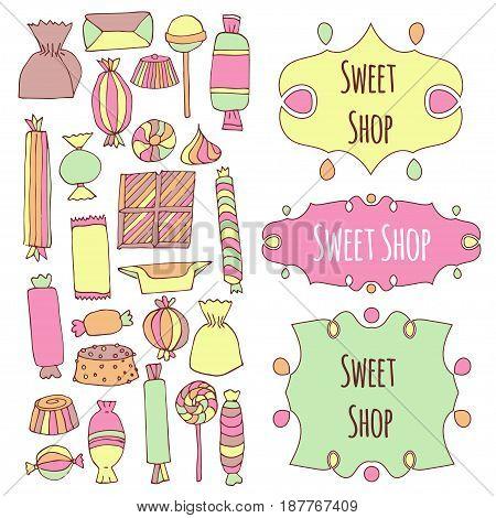 Hand Drawn Candy Set