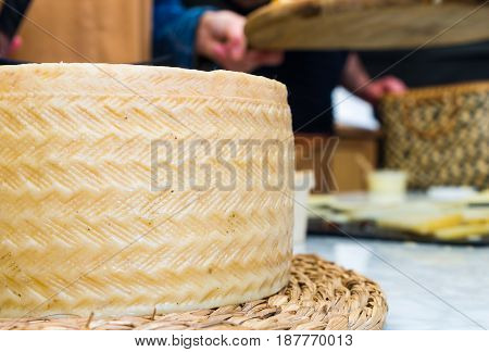 Toledo sheep's milk cheese. Semi-curated cheese from spain