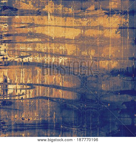Vintage spotted textured background. With different color patterns: yellow (beige); brown; blue; gray