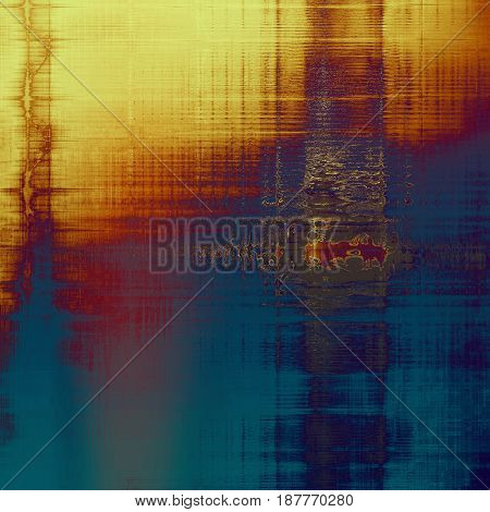 Old grunge background with delicate abstract texture and different color patterns: yellow (beige); brown; blue; red (orange); purple (violet); pink