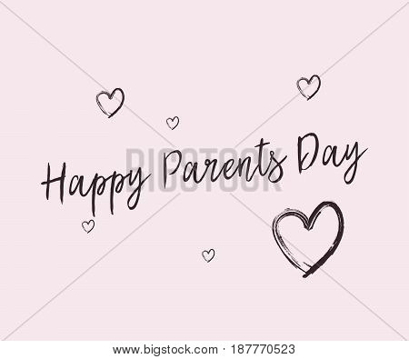 Happy Parents Day vector illustration with hearts
