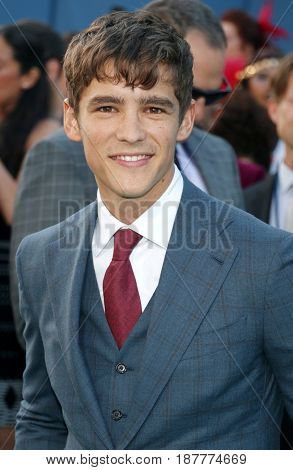 Brenton Thwaites at the U.S. premiere of 'Pirates Of The Caribbean: Dead Men Tell No Tales' held at the Dolby Theatre in Hollywood, USA on May 18, 2017.
