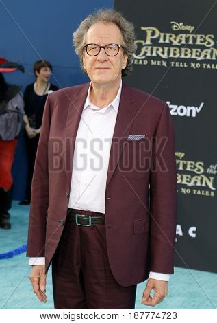 Geoffrey Rush at the U.S. premiere of 'Pirates Of The Caribbean: Dead Men Tell No Tales' held at the Dolby Theatre in Hollywood, USA on May 18, 2017.