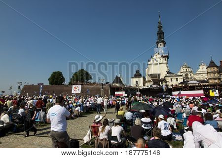 Czestochowa Poland May 20 2017: XXII Polish Nationwide Rehabilitation in the Holy Spirit on Jasna Gora in Czestochowa
