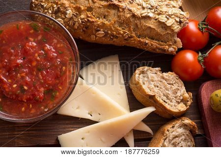 Multigrain Bread With Sauce And Cheese