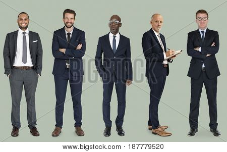 Group of business people wearing suit standing in a row