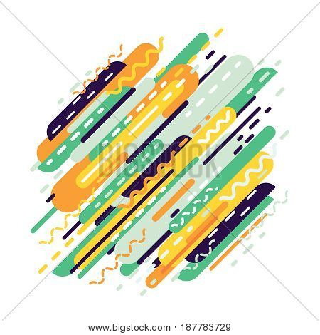 Abstract geometric background from strips. Dynamic modern background. Vector illustration.