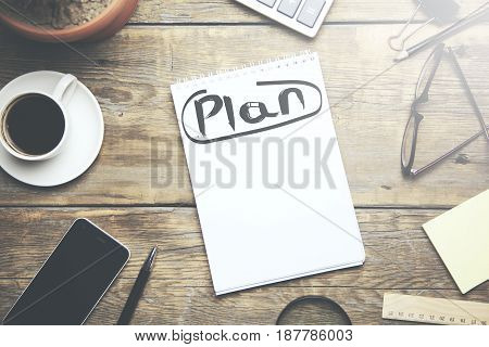 Plan Planning Development growth Goal Concept on table