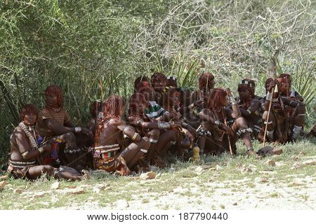 The tribe of Hamar in the Omo Valley of Ethiopia,19. October 2012