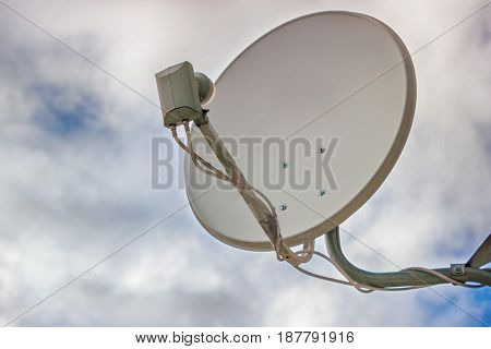 the image satellite dish on sky background