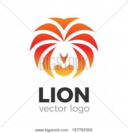 Animal lion head vector logo illustration. Brand logo template.
