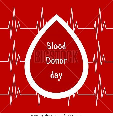 Vector illustration. World blood donor day June-14. Blood donation concept with drop. Global public health campaign by world health organization