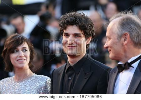 Charlotte Gainsbourg,  Louis Garrel attend the 'Ismael's Ghosts (Les Fantomes d'Ismael)' screening and Opening Gala during the 70th annual Cannes Festival at Palais  on May 17, 2017 in Cannes, France.